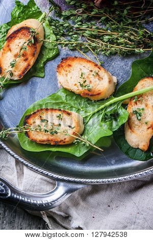 Fried Bread Croutons With Thym