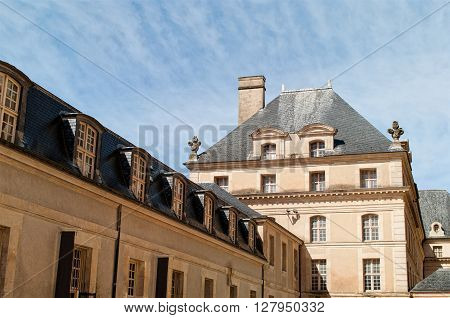 In the inner yard of the National Residence of Invalids in Paris. France