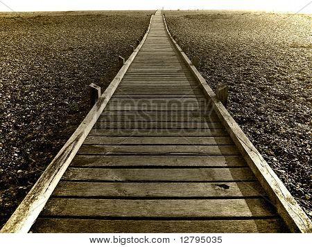 Boardwalk on Shingle Beach