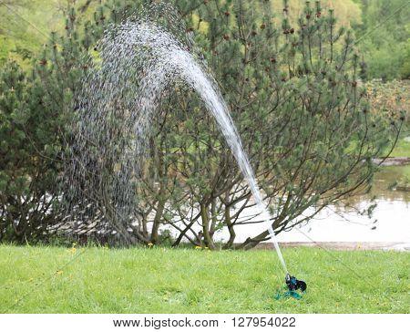 image of many sprinkler in japan garden