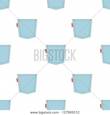 Seamless pattern with jeans pockets. Vector illustration