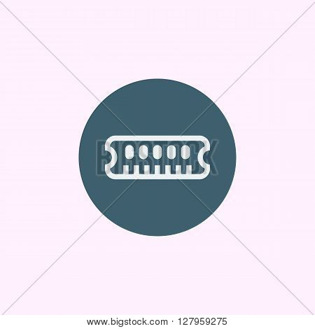 Ram Icon In Vector Format. Premium Quality Ram Symbol. Web Graphic Ram Sign On Blue Circle Backgroun