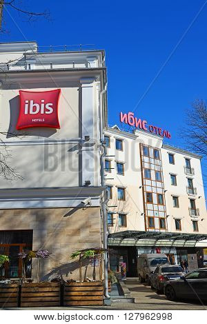 Russia, Yaroslavl-March 27.2016.  Network Hotel Ibis in the May Lane