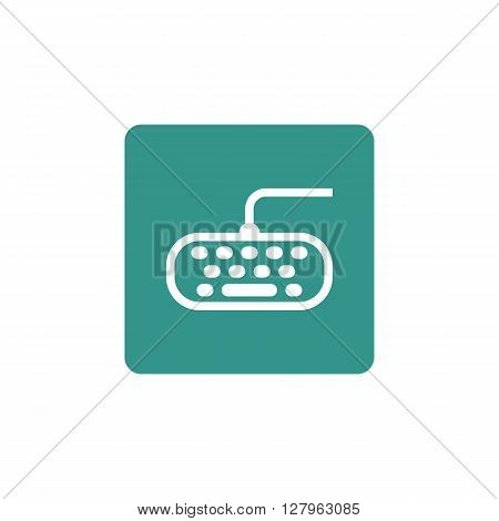 Keyboard Icon In Vector Format. Premium Quality Keyboard Symbol. Web Graphic Keyboard Sign On Green