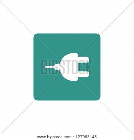 Plug Icon In Vector Format. Premium Quality Plug Symbol. Web Graphic Plug Sign On Green Background.