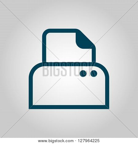 Printer Icon In Vector Format. Premium Quality Printer Symbol. Web Graphic Printer Sign On Grey Back