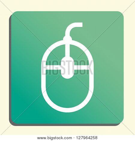 Mouse Icon In Vector Format. Premium Quality Mouse Symbol. Web Graphic Mouse Sign On Green Light Bac