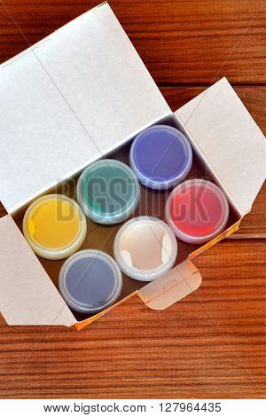 Children's paint, colored paint, set for artist