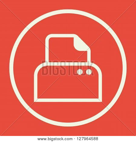 Printer Icon In Vector Format. Premium Quality Printer Symbol. Web Graphic Printer Sign On Red Backg