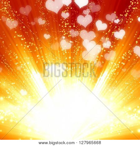 Magical red background