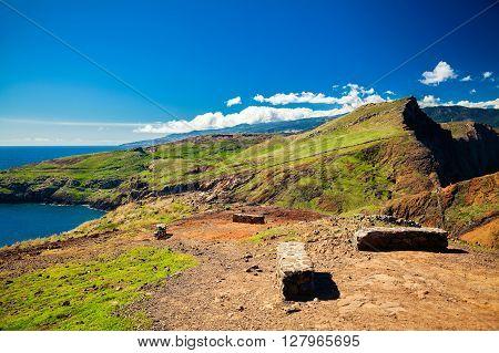 landscape at Ponta do Sao Lourenco Madeira Portugal
