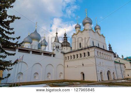 Rostov Veliky.  Temples of the Rostov Kremlin, Golden Ring tourist attraction