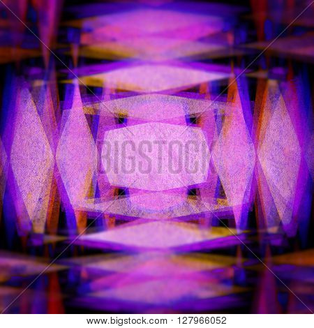 Retro purple and yellow diamond blur background