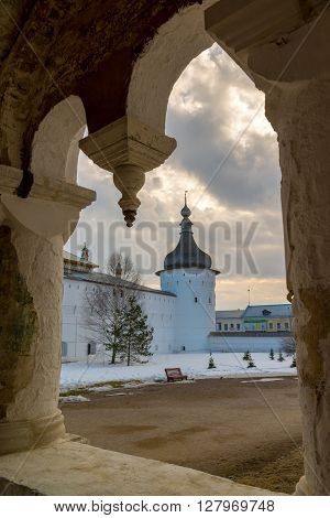 Rostov Veliky, Russia-March 30.2016. the Rostov Kremlin, Golden Ring tourist ** Note: Visible grain at 100%, best at smaller sizes