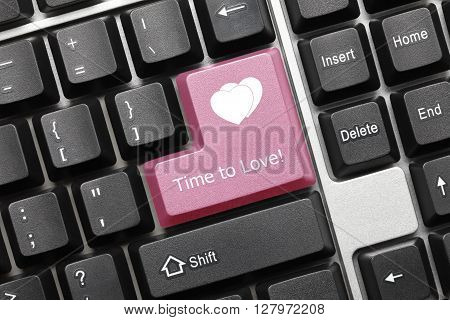Conceptual Keyboard - Time To Love (pink Key)