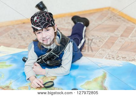 Child Boy Playing Pirate