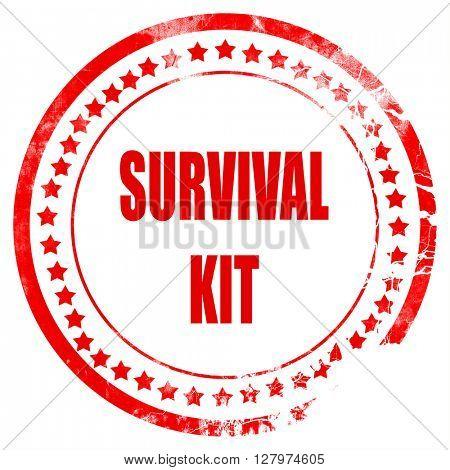 Survival kit sign
