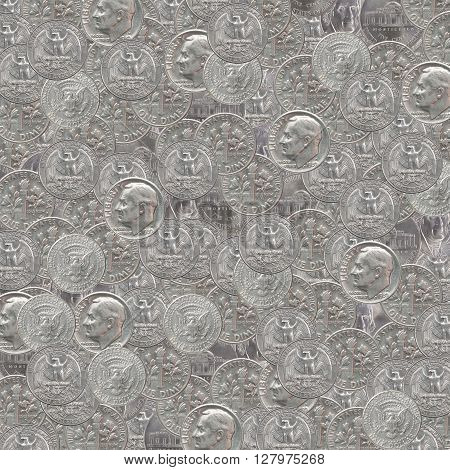 Backgrounds American Silver Coins