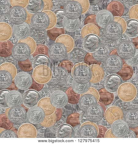 Backgrounds Set American Coins