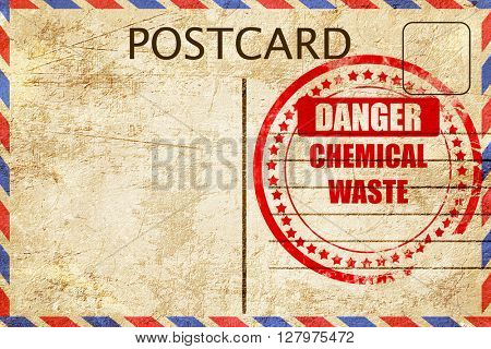 Chemical waste sign