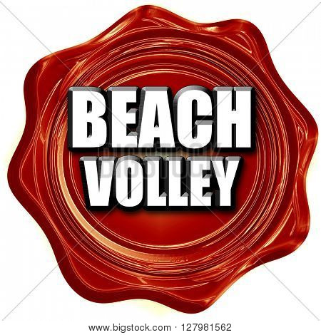 beach volley sign