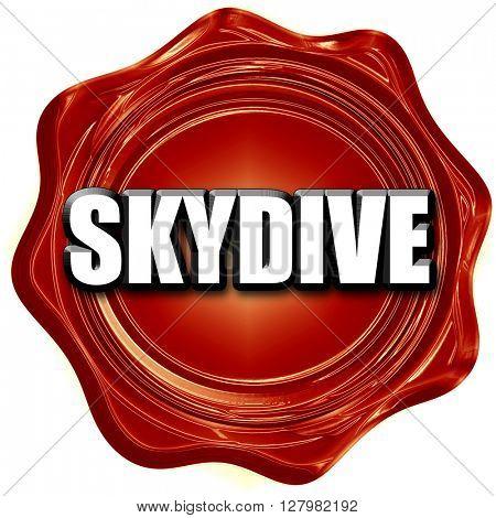 skydive sign background