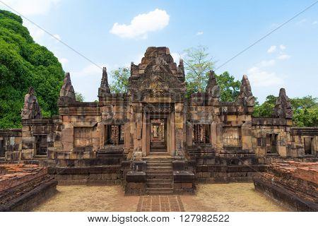 Khmer archaeological site of Prasat Muang Tam in Buriram Province,Thailand