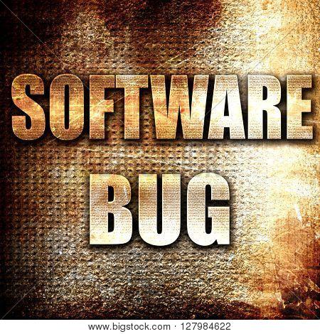 Software bug background