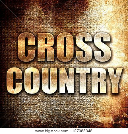 cross country sign background