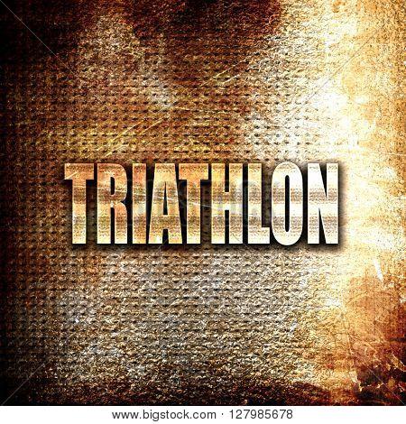 triathlon sign background