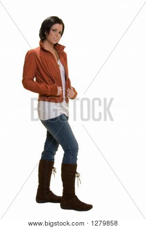 Fashionable Brunette