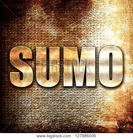 sumo sign background