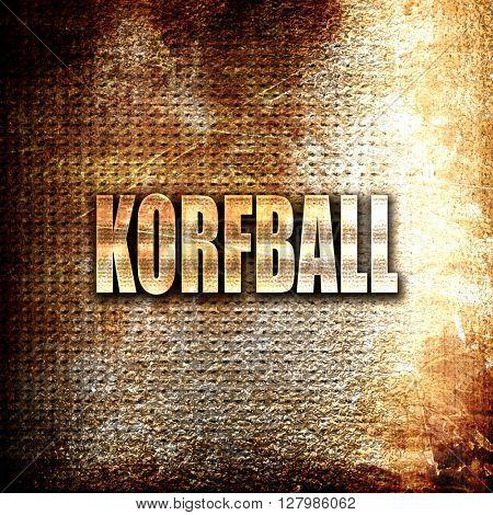 korfball sign background