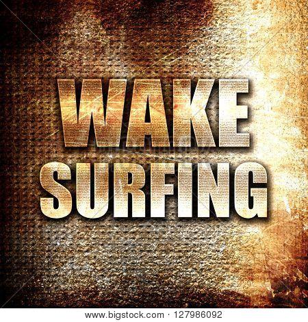 wake surfing sign background