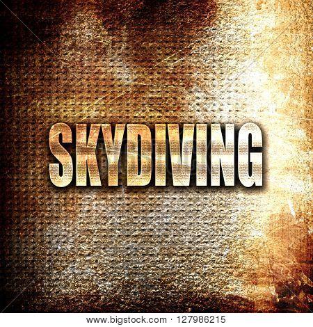 skydiving sign background