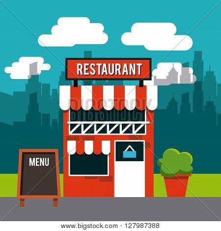 restaurant outside design, vector illustration eps10 graphic