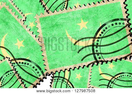 Postal stamp background