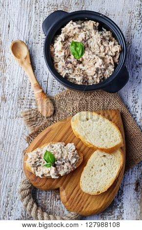 Tuna Salad With Eggs In Bowl