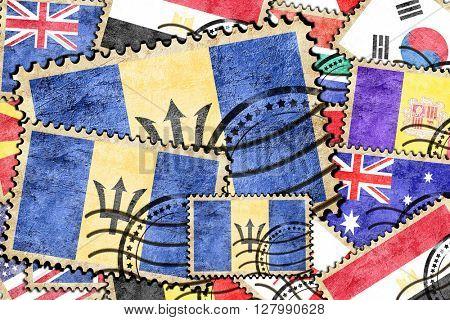 Barbados vintage  postal stamp