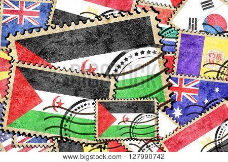 Western sahara vintage  postal stamp