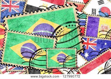 Brasil vintage  postal stamp