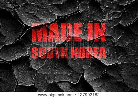 Grunge cracked Made in south korea