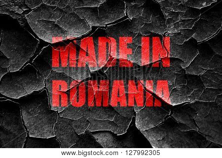 Grunge cracked Made in romania