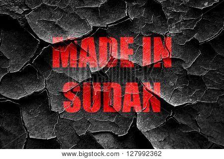 Grunge cracked Made in sudan