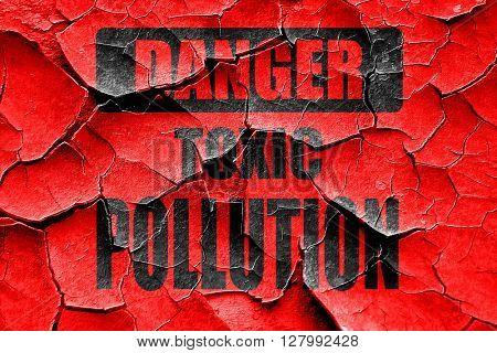 Grunge cracked Pollution waste sign