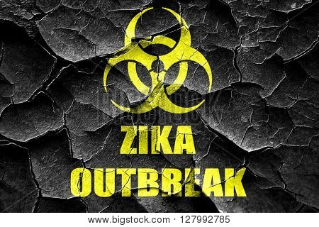 Grunge cracked Zika virus concept background
