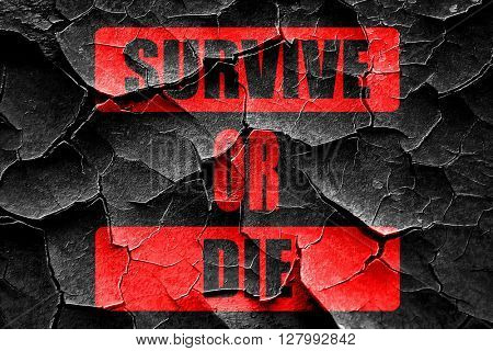 Grunge cracked Survive or die