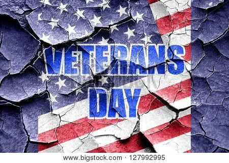 Grunge cracked veterans day background