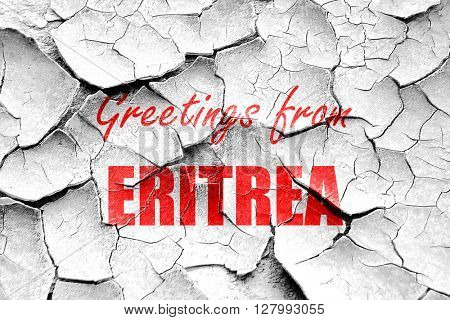 Grunge cracked Greetings from eritrea