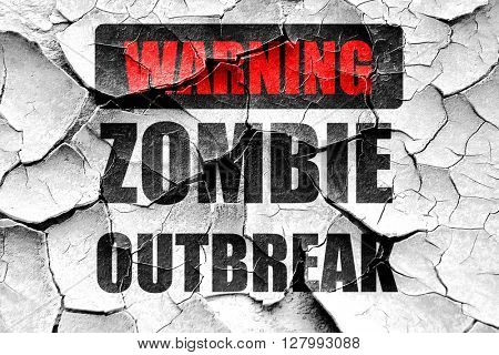 Grunge cracked zombie virus concept background